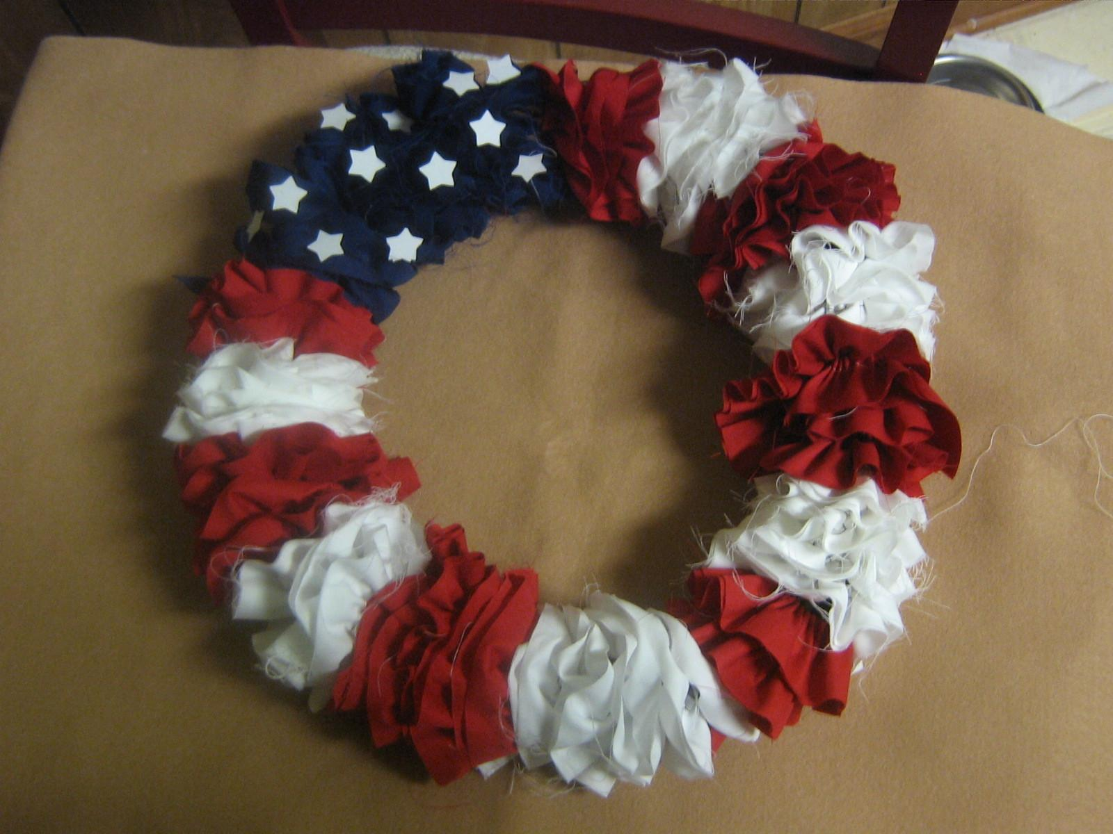 Multicultural Crafts 4th July Wreath