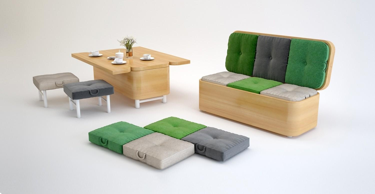 Multipurpose Furniture Small Spaces Stylish