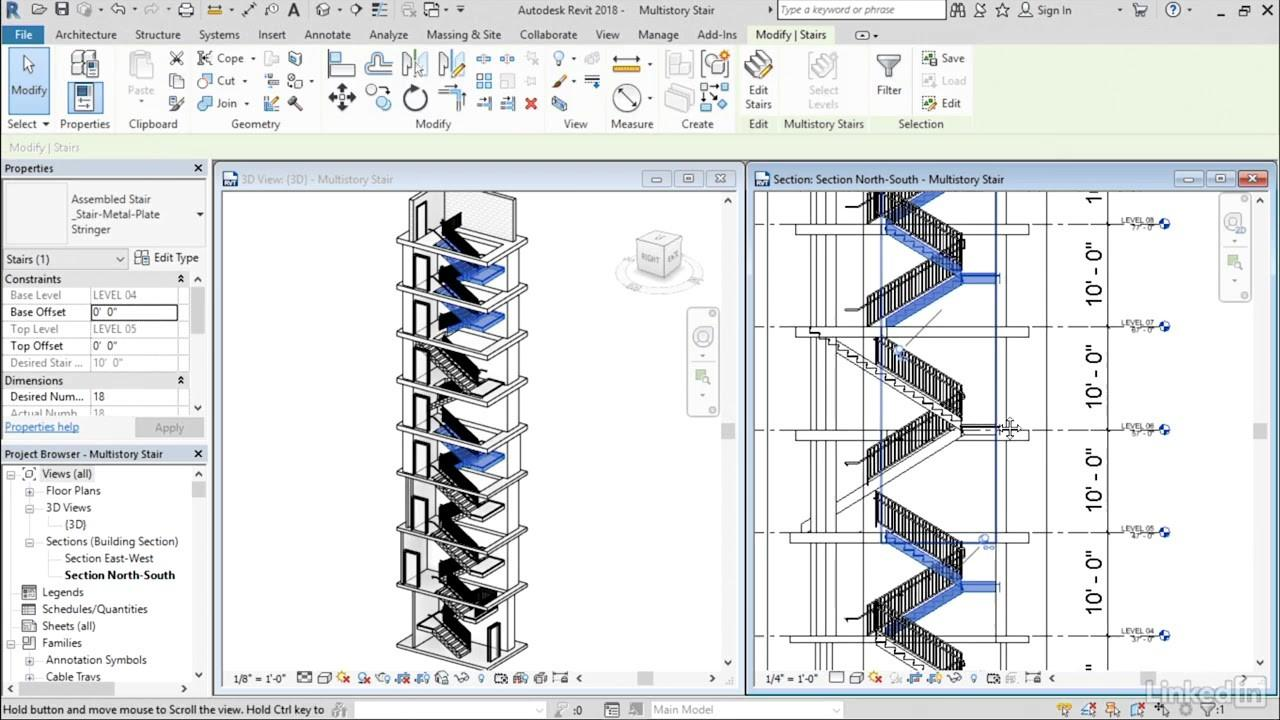 Multistory Stairs Revit 2018 New Features