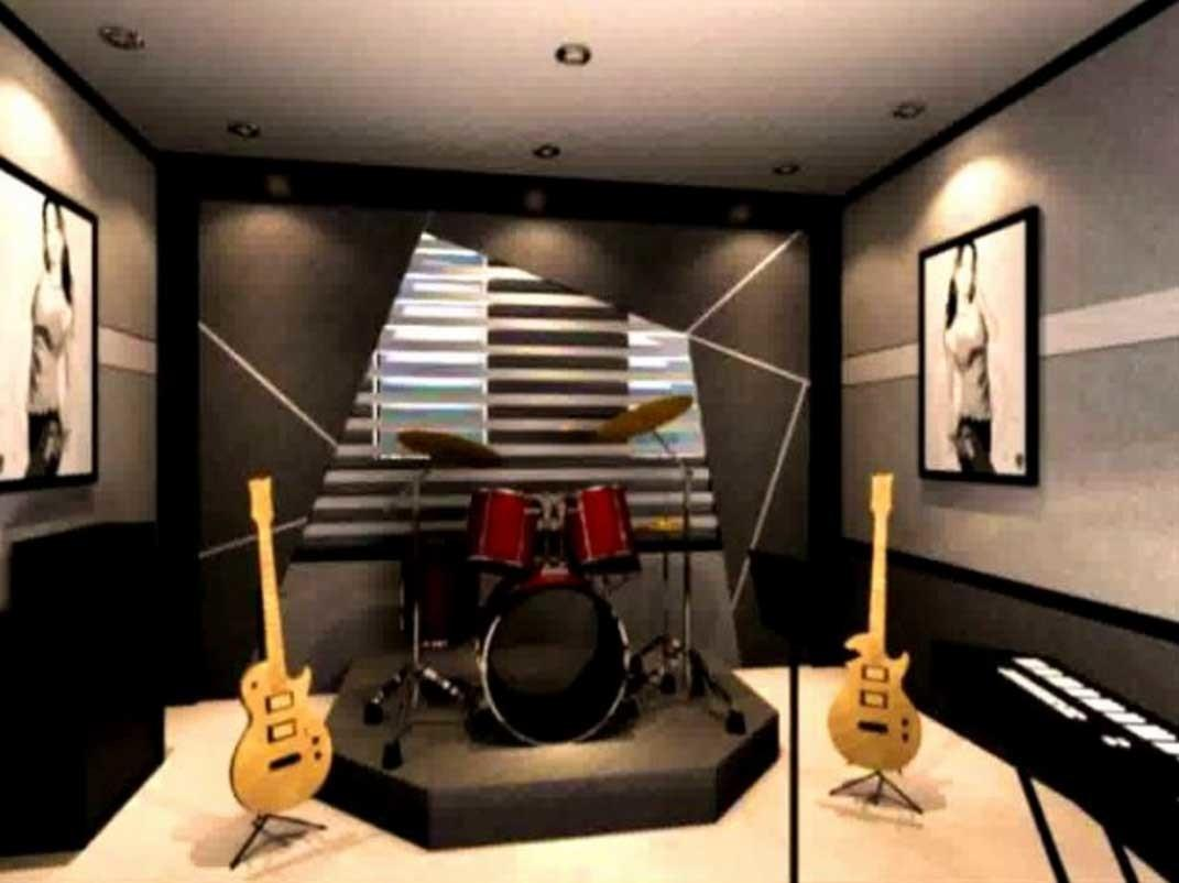 Music Room Decoration Ideas Dark Wall Paint