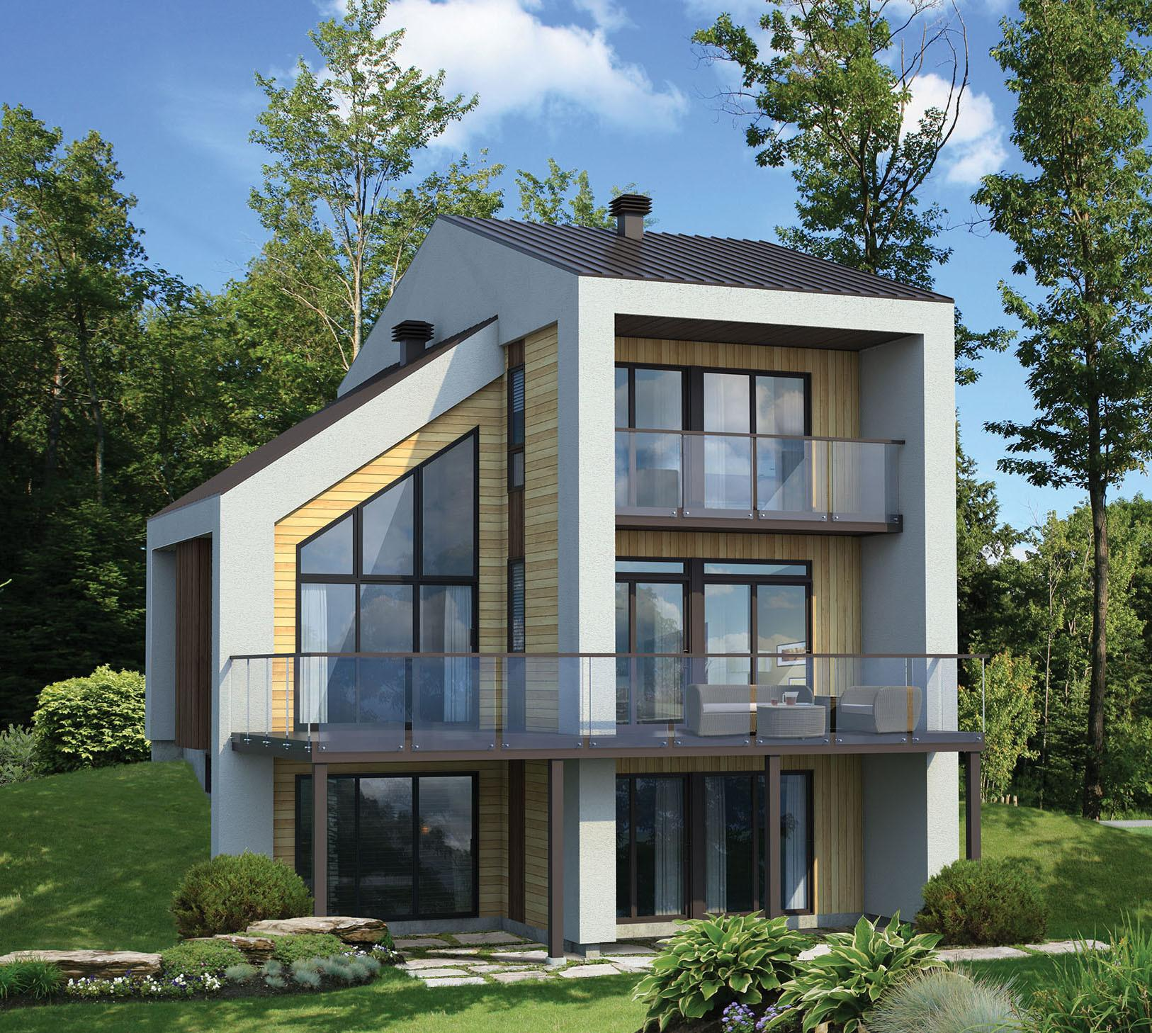 Narrow Lot Contemporary House Plan Pm 2nd Floor