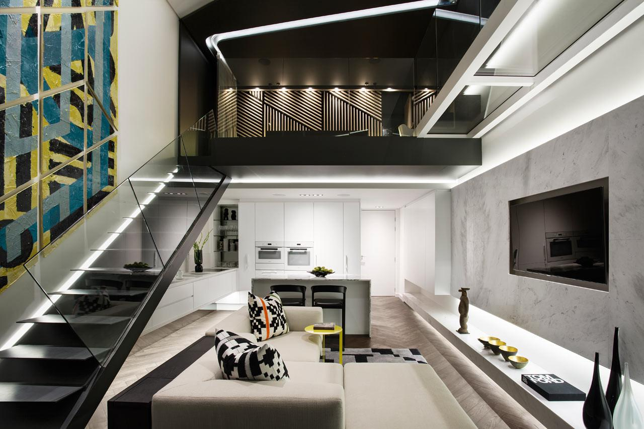 Narrow Space Becomes Modern Apartment Design Milk