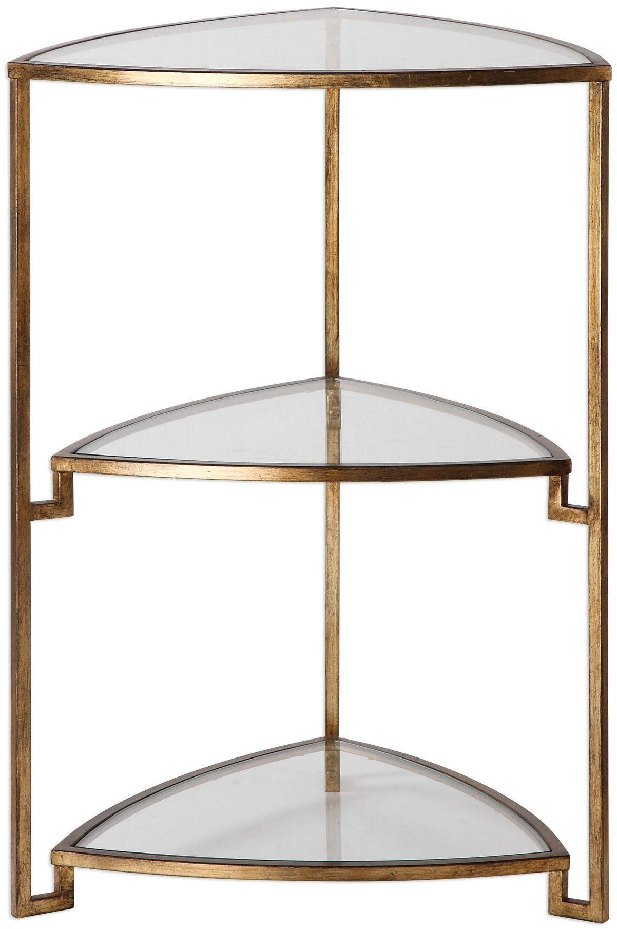 Nastasia Gold Leaf Accent Table Uttermost