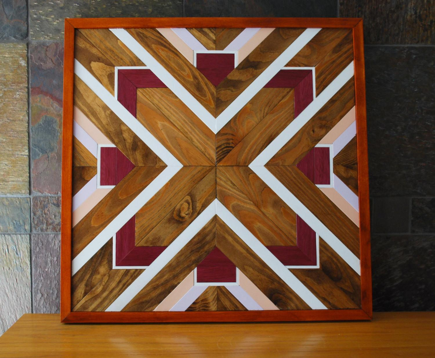 Native American Geometric Design Wood Wall Art Navajo Tribal