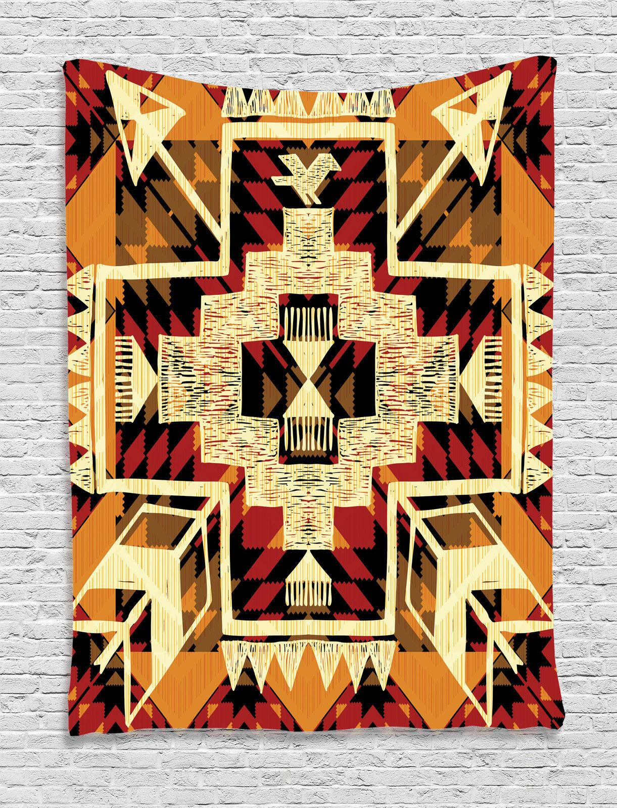 Native American Inspired Aztec Pattern Ethnic Style Print