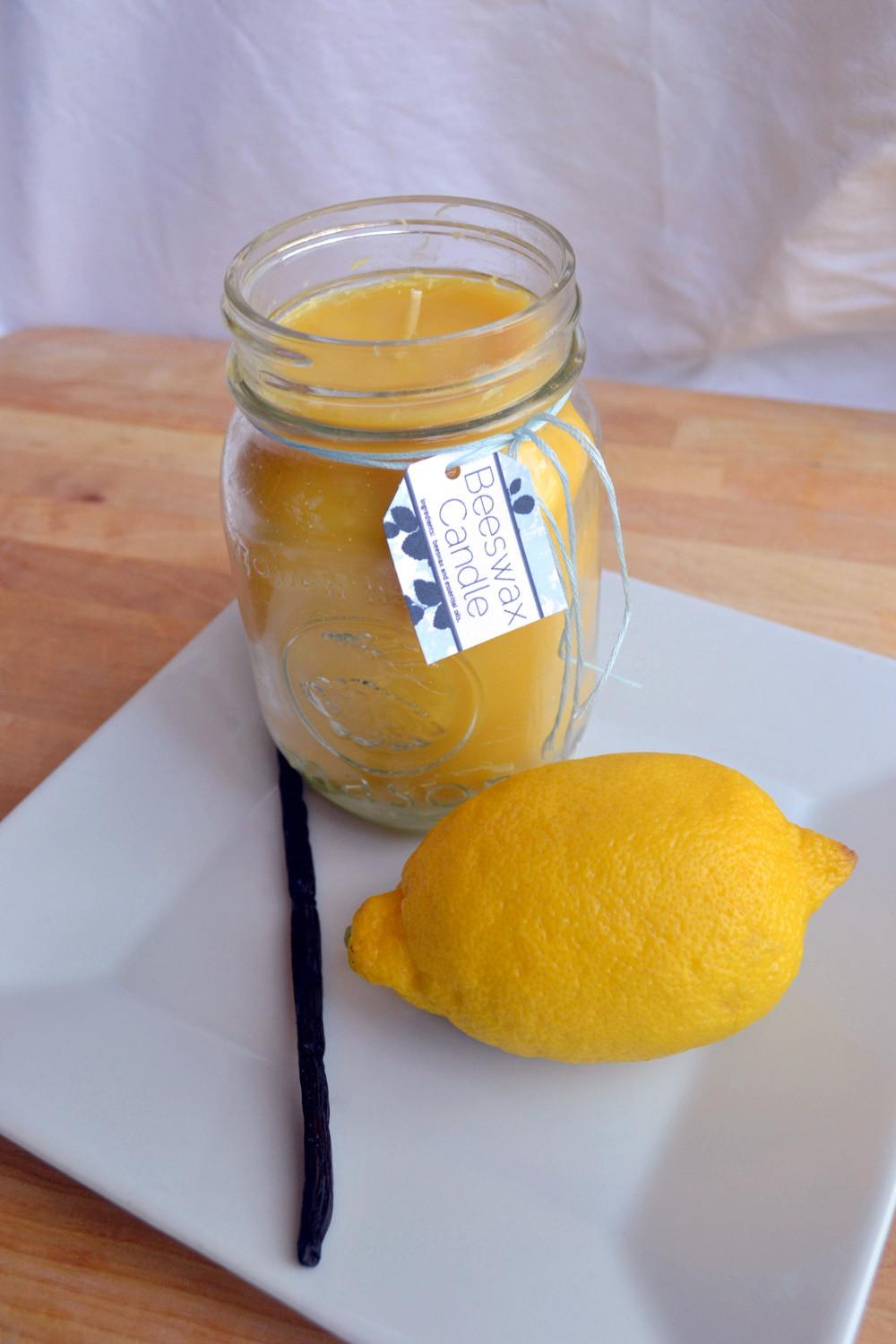 Natural Cleaning Beeswax Candles Tutorial Essential Oils