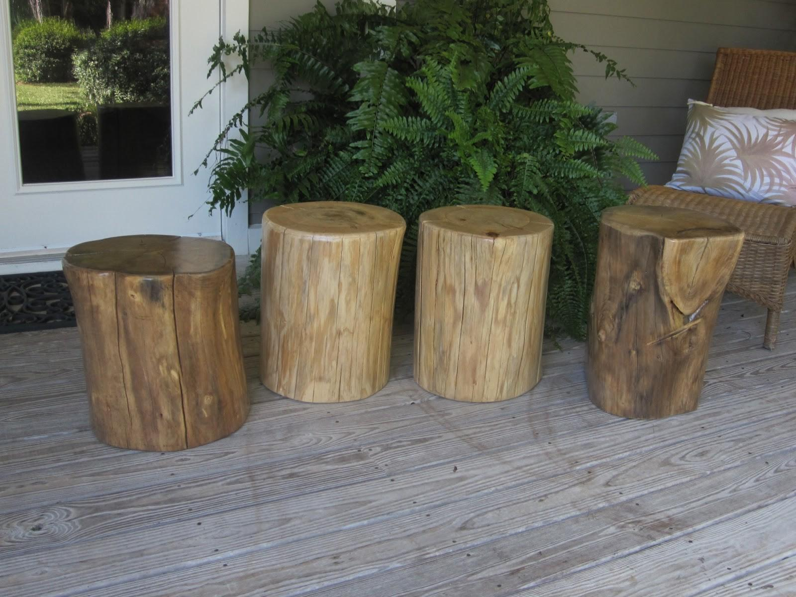Natural Creations Reclaimed Wood Stump Tables Stools