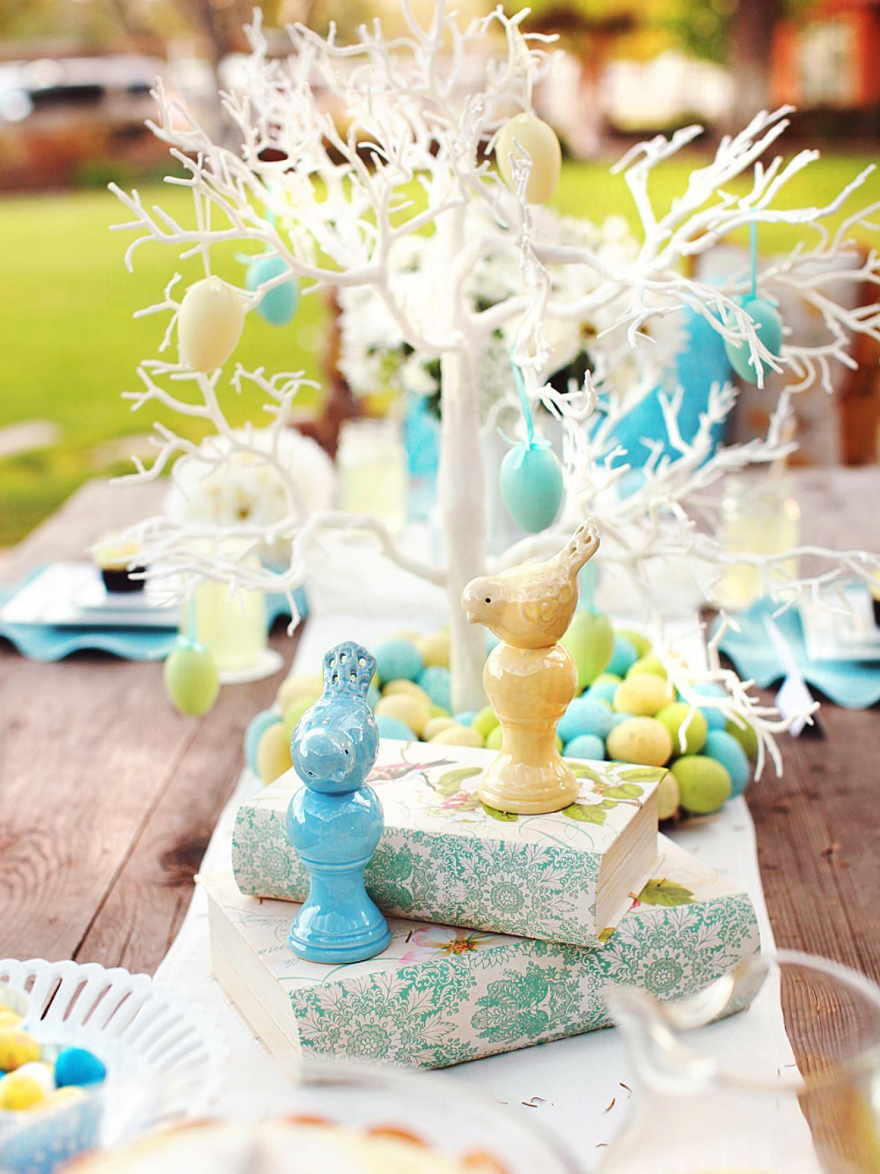 Natural Elements Centerpiece Simple Easter