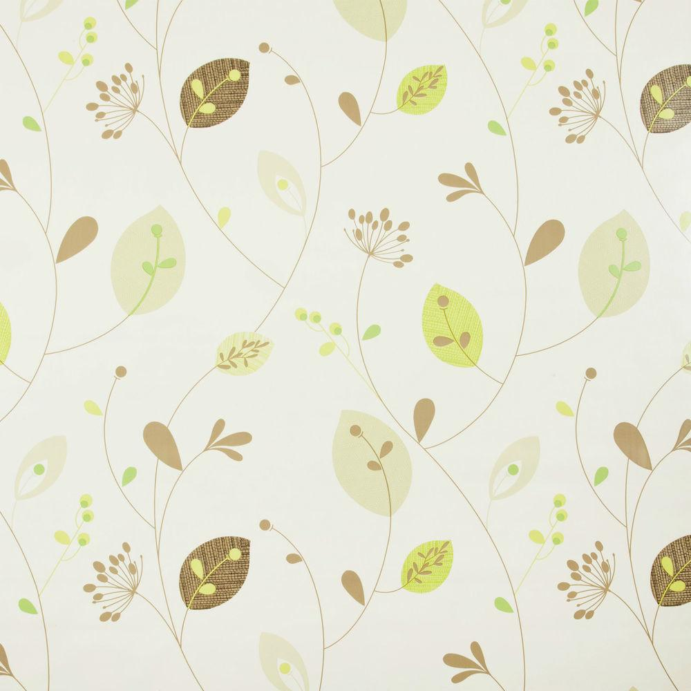 Natural Leaves Stems Pvc Vinyl Wipe Clean Tablecloth
