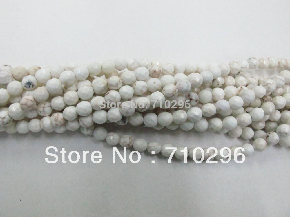 Natural Magnesite Howlite Gem Stone Beads Faceted