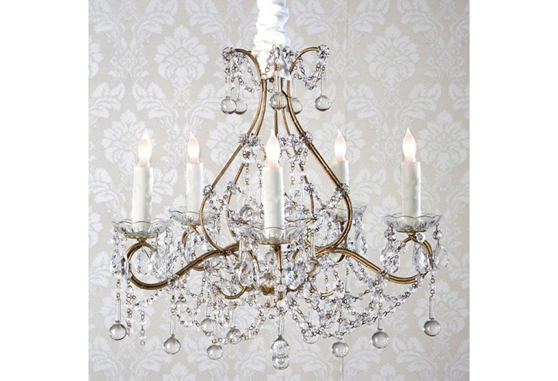 Natural Shabby Chandelier Vintage French Country Shab