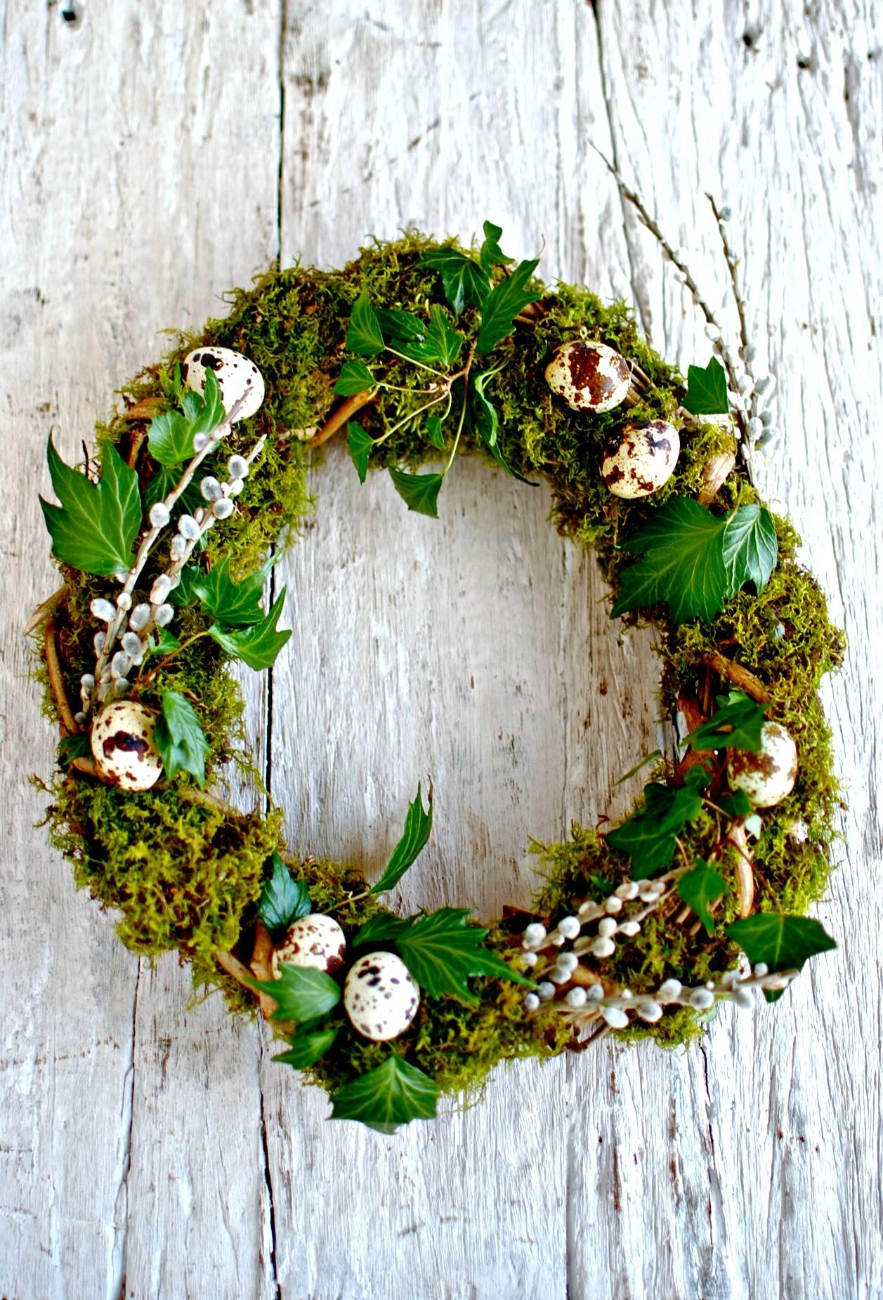 Natural Spring Centrepiece Wreath Easter