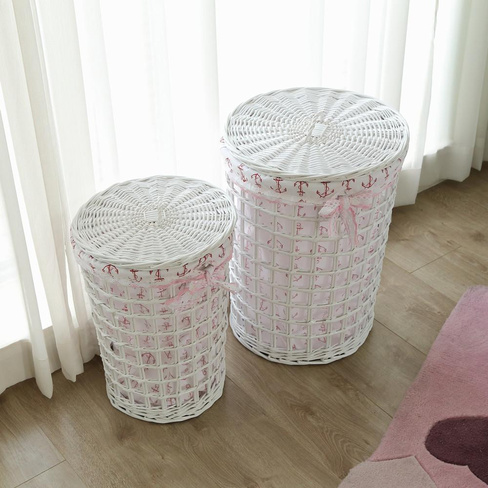 Natural Tall Laundry Basket Wicker
