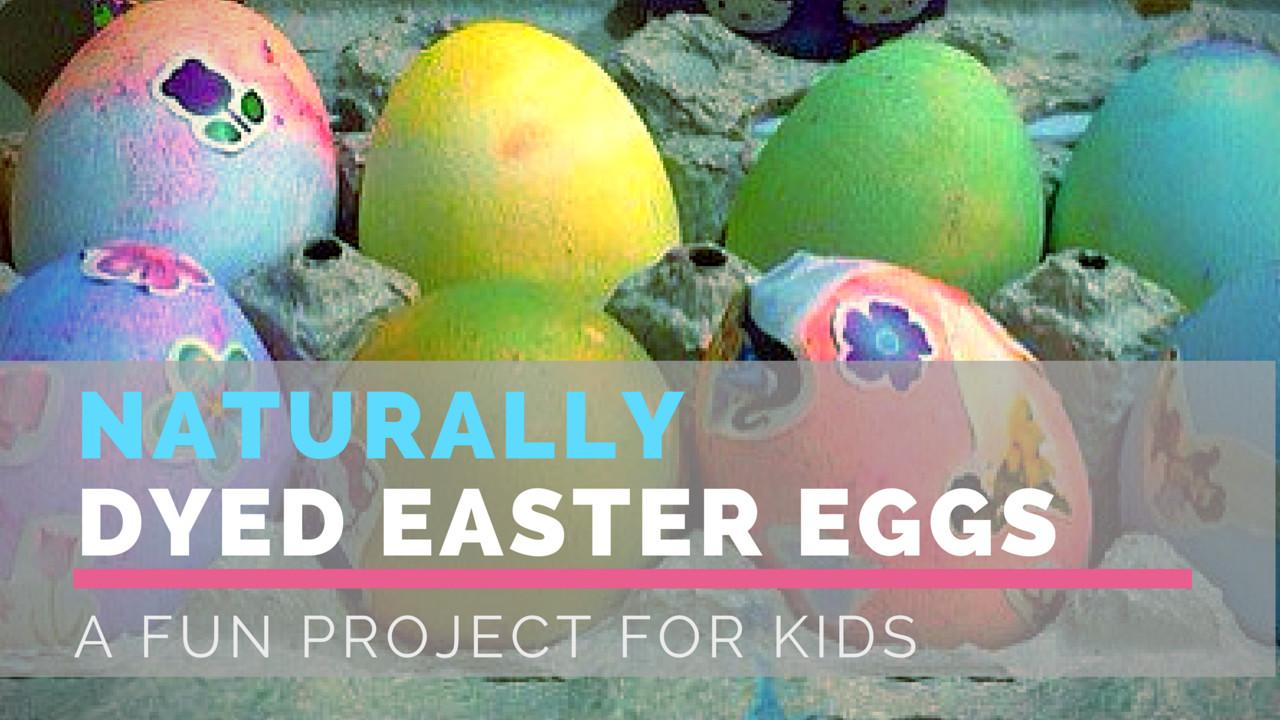 Naturally Dyed Easter Eggs Fun Project Kids