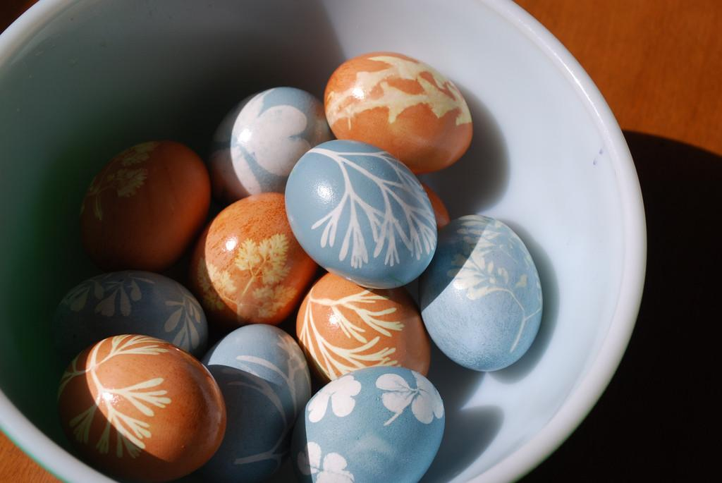 Naturally Dyed Easter Passover Eggs Our
