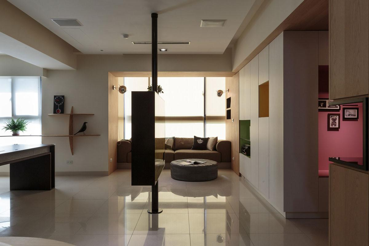 Nature Inspired Details Shaping Modern Family Apartment