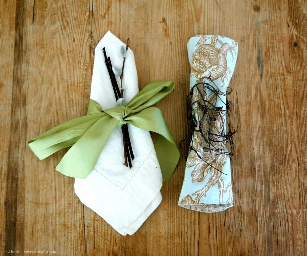 Nature Inspired Napkin Rings Spring Table