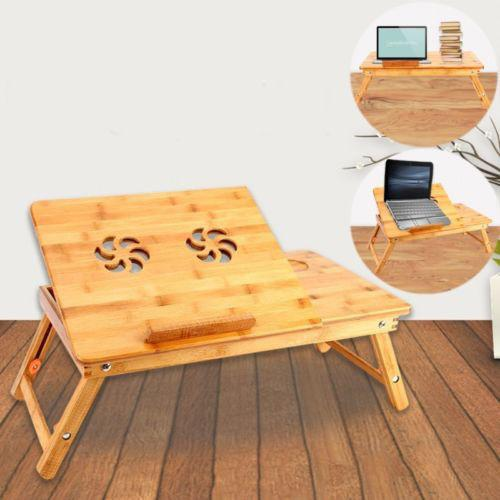 Nature Style Bamboo Folding Laptop Computer Notebook Table