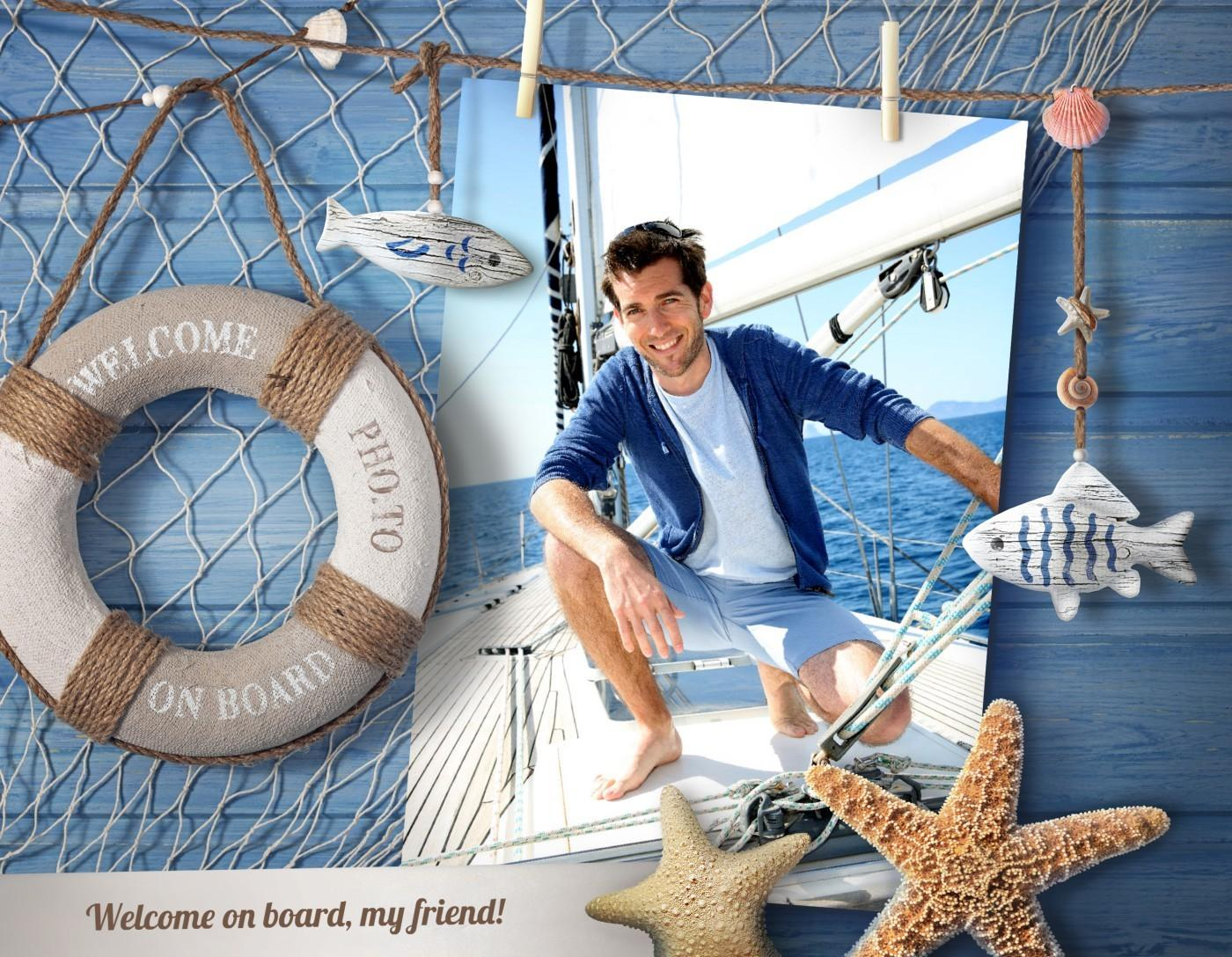 Nautical Frame Your Sea Vacation Shots