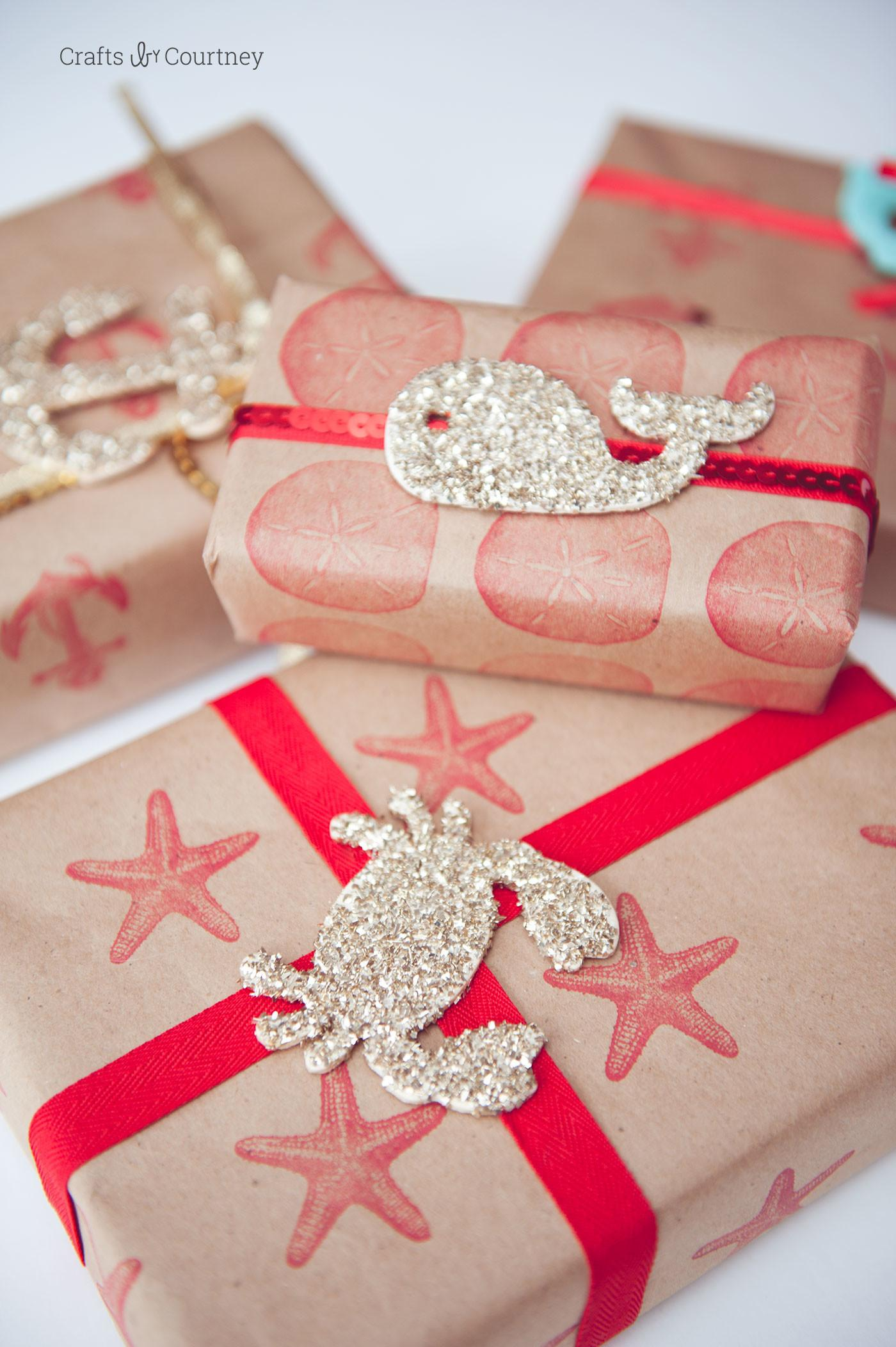Nautical Inspired Diy Wrapping Paper