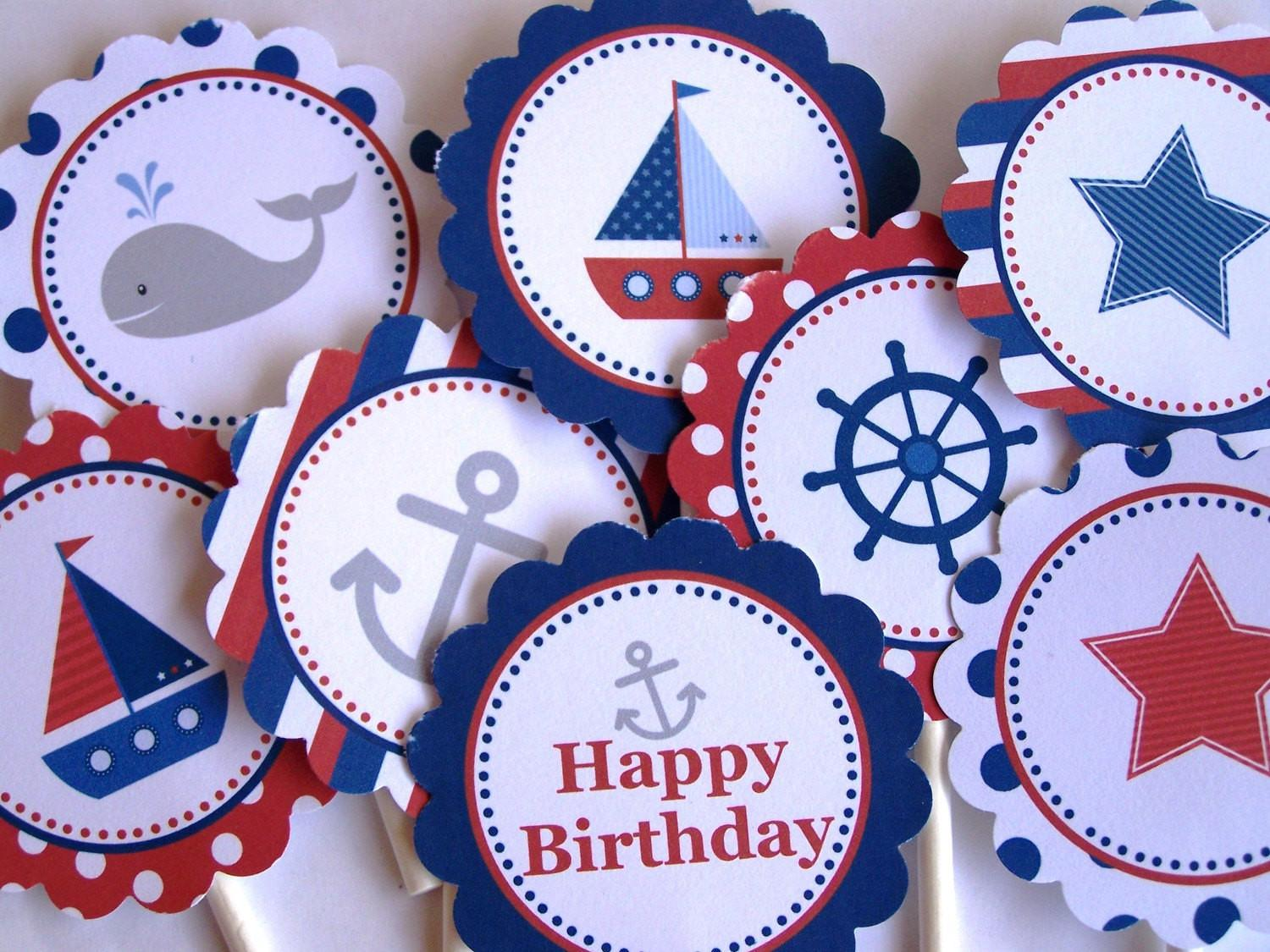 Nautical Party Decorations Printable Rounds