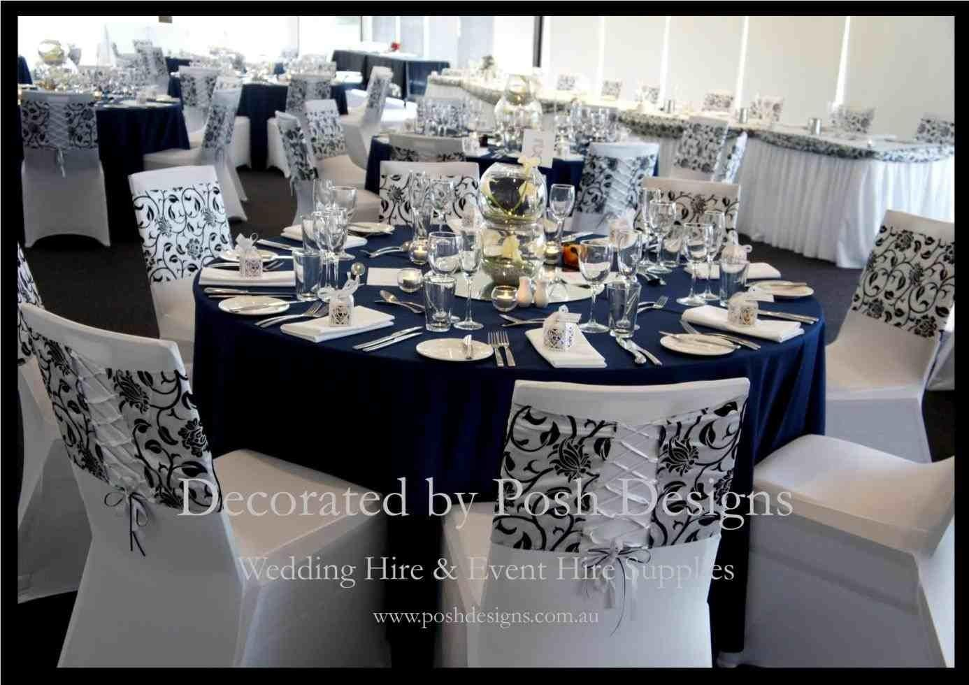 Navy Blue Silver Wedding Decorations Siudy