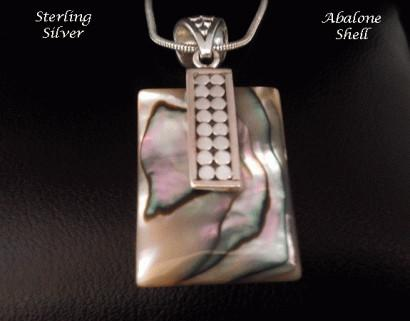 Necklace Abalone Shell Sterling Silver Features