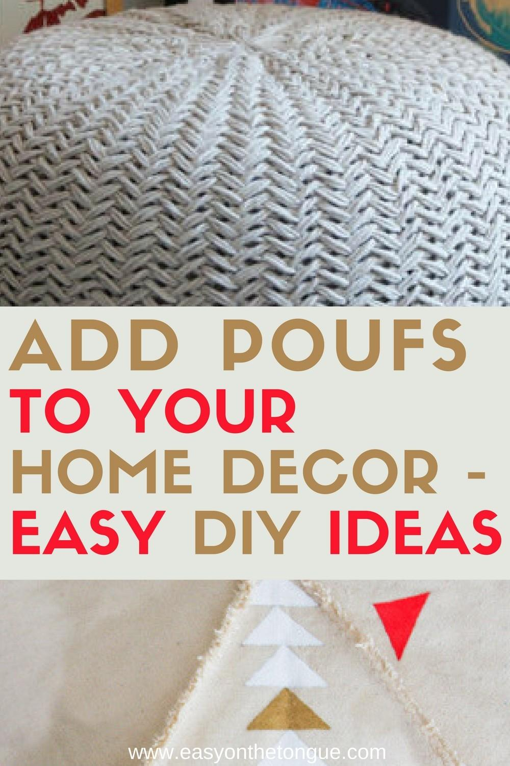 Need Extra Seats Your Home Make Any Diy Poufs