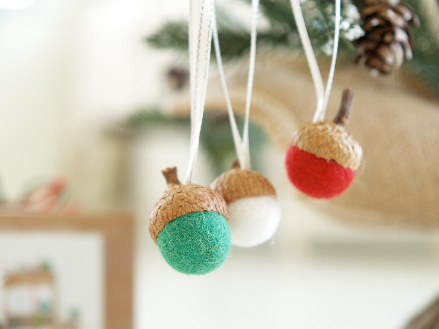 Needle Felting Kit Beginner Felted Acorn Ornament Wool