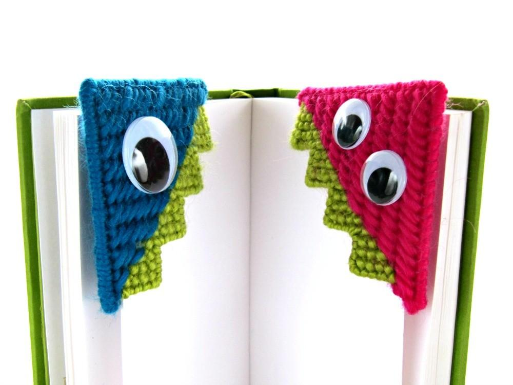 Needlepoint Monster Bookmark Tutorial Knits Life