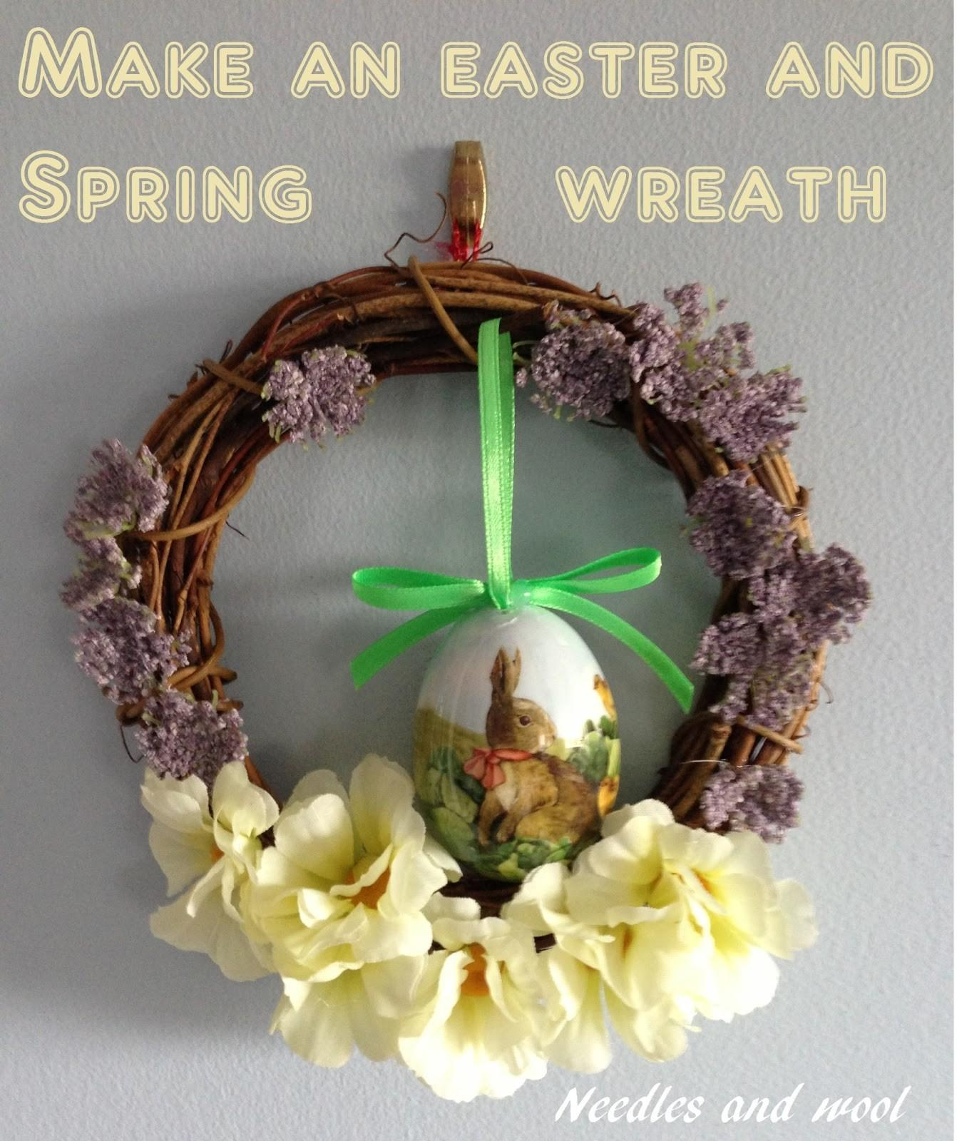 Needles Wool Diy Easter Spring Wreaths
