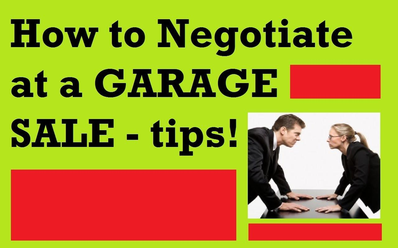 Negotiate Garage Sale Tips