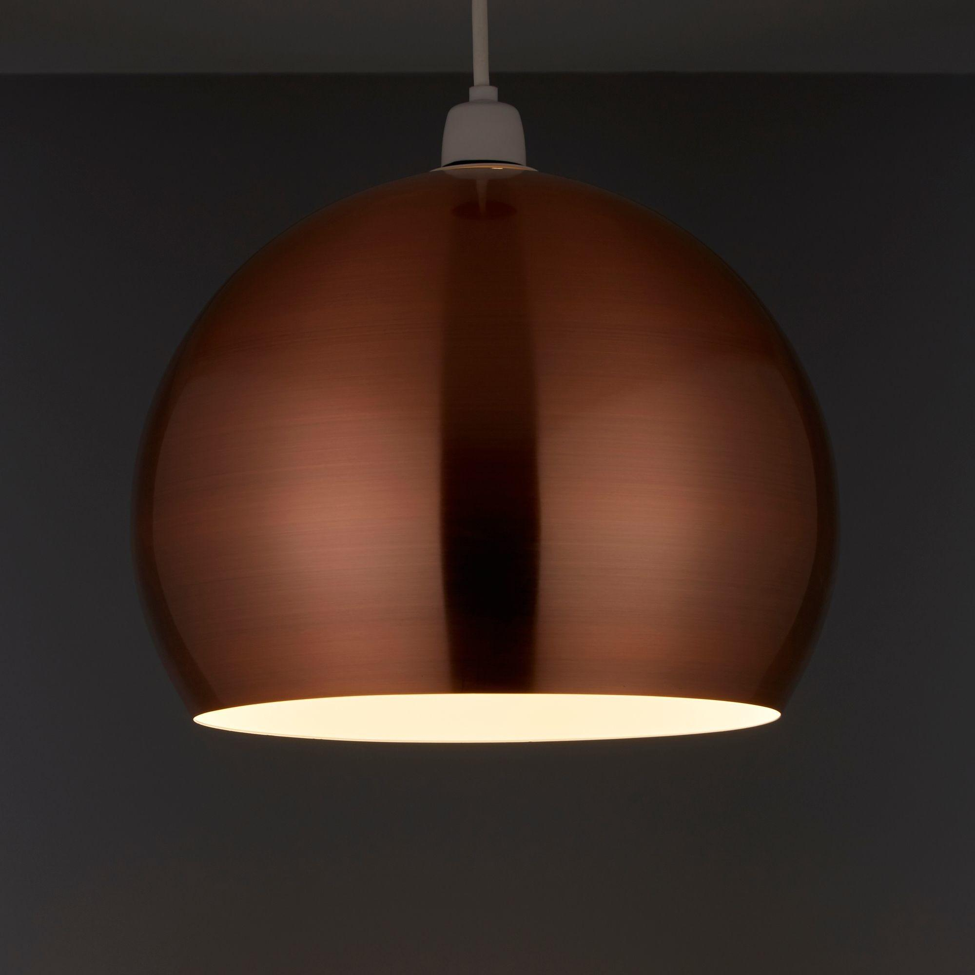 Nell Copper Pendant Light Shade 280mm Departments