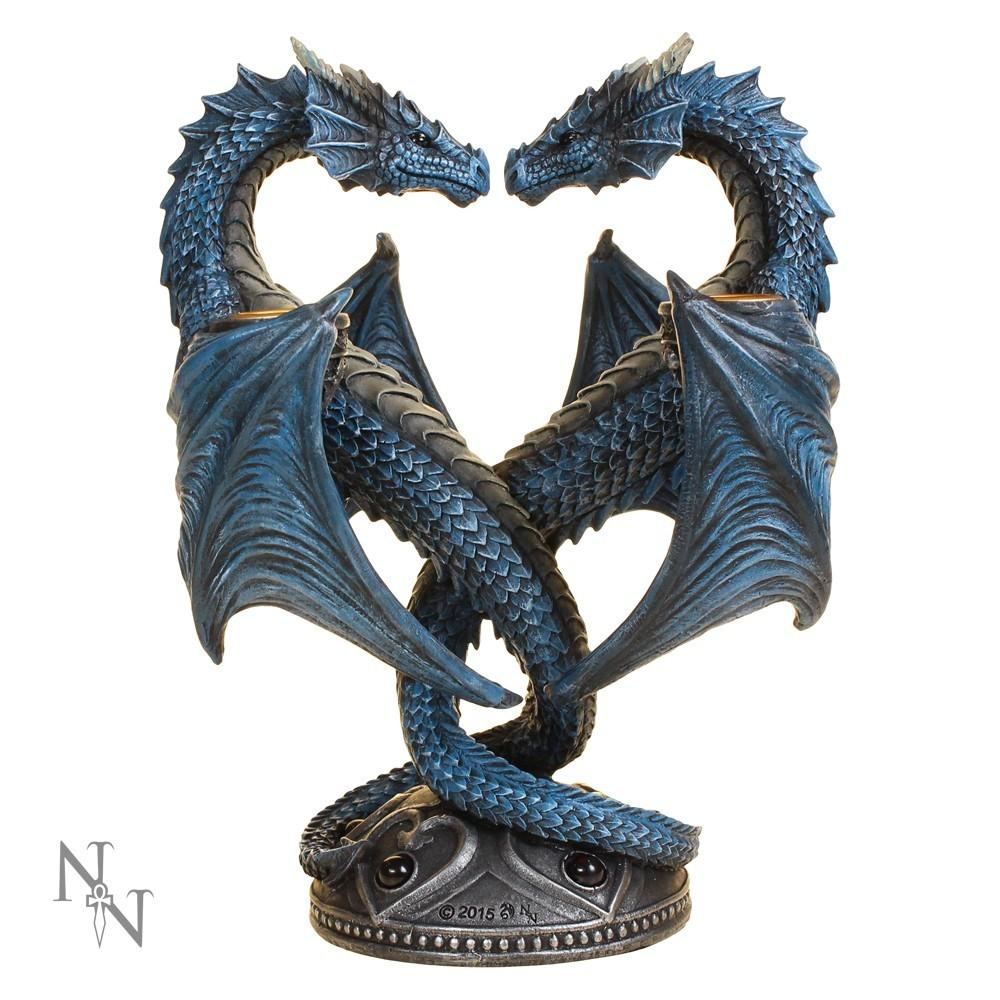 Nemesis Now Dragon Heart Twin Candle Holder Anne Stokes