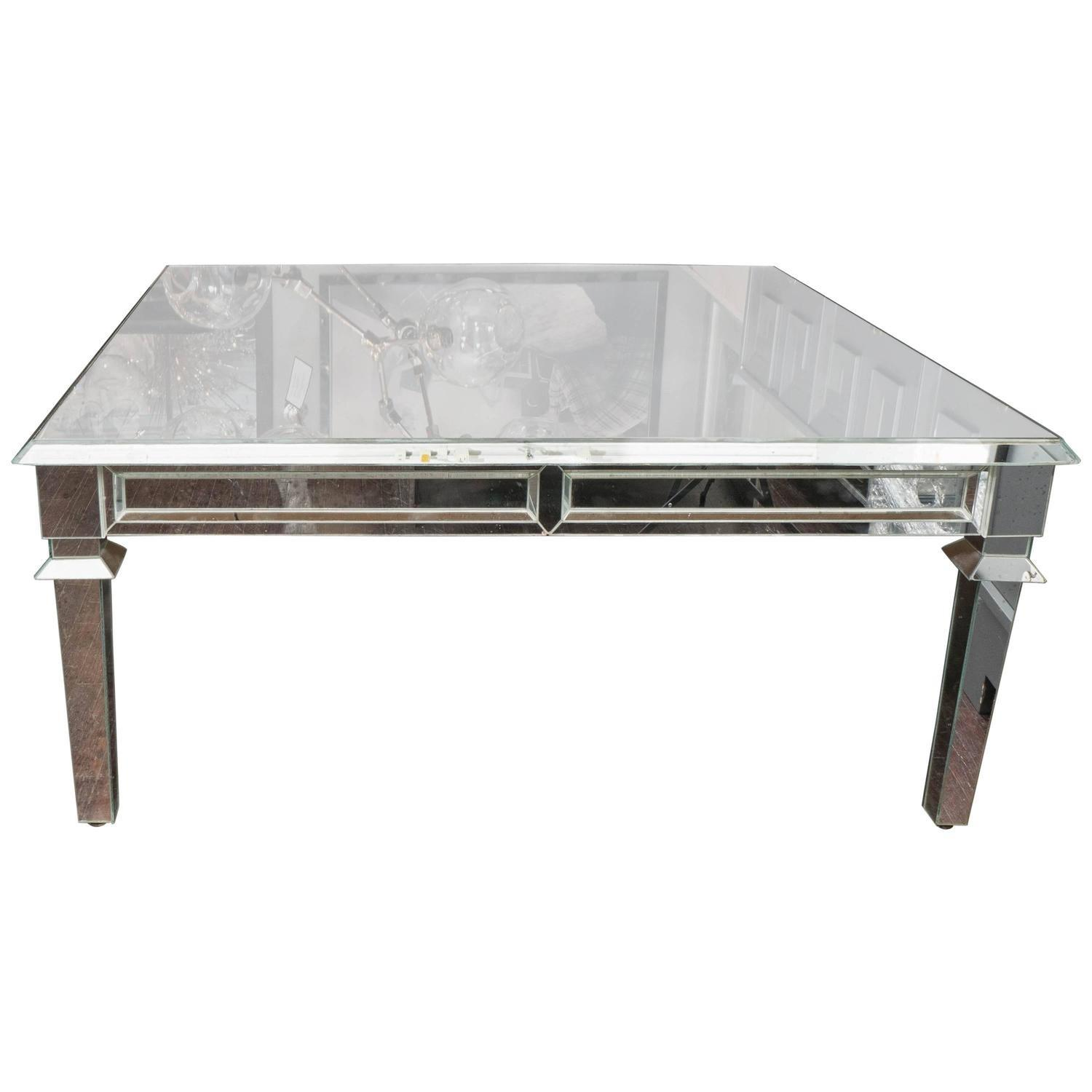Neo Classical Mirrored Coffee Table 1stdibs