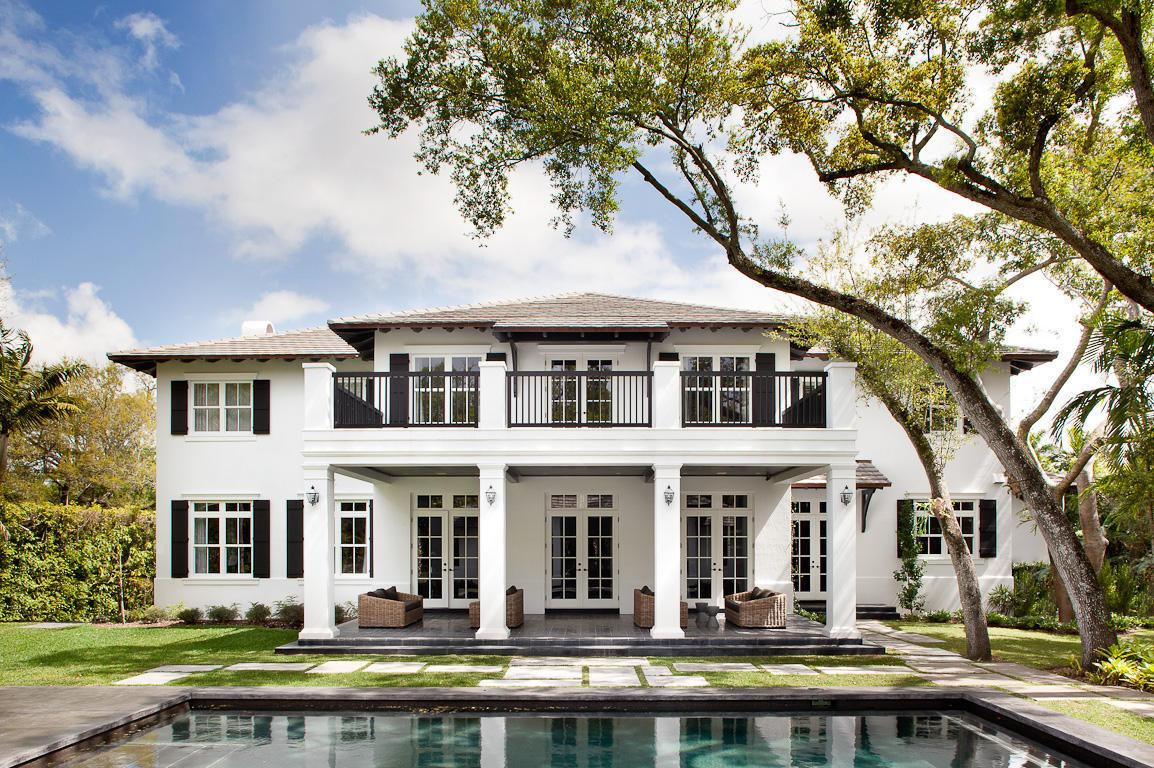 Neoclassical Style Miami Home Pool Pavilion