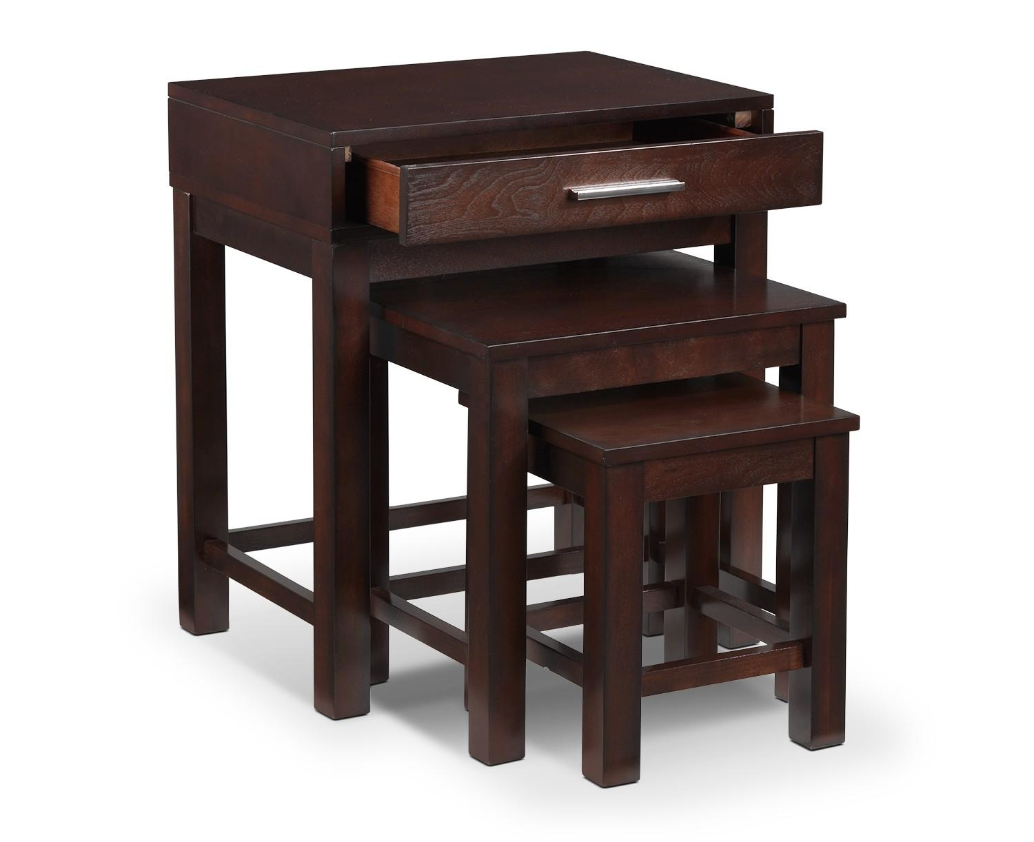 Nesting End Tables Contemporary Wood