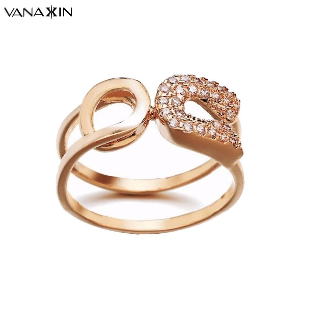 New 2017 Rings Women Metal Fashion Rose Gold Men