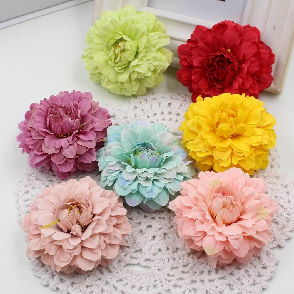 New 5pcs Lot 6cm Artificial Silk Wedding Floral Decoration