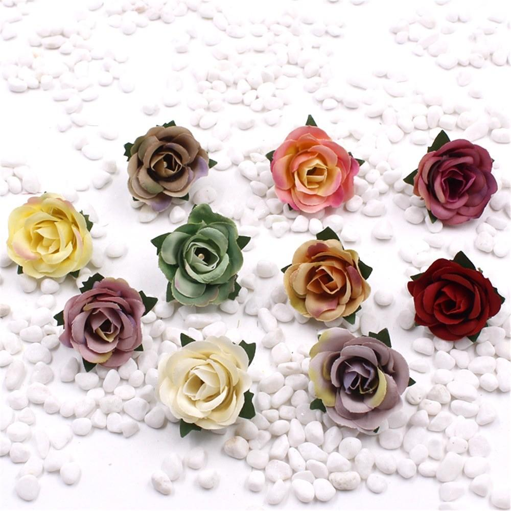 New 5pcs Shipping 3cm Simulation Rose Corsage Hairpin