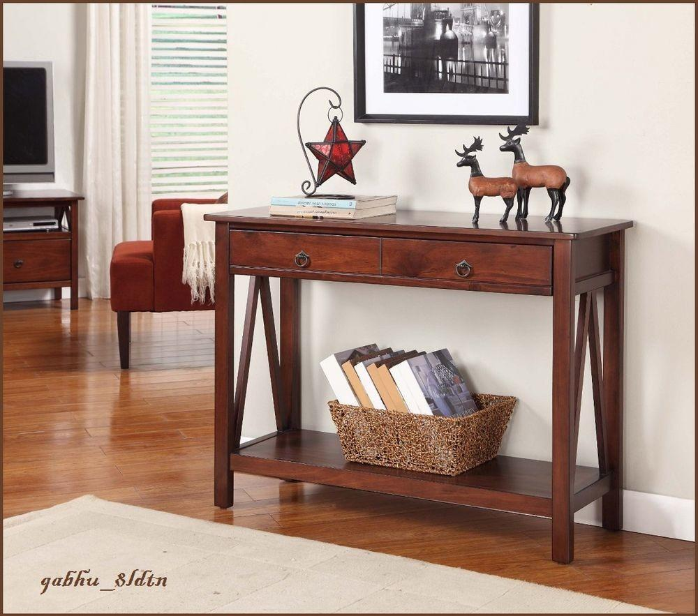New Antique Style Foyer Table Drawers Console Sofa Wood