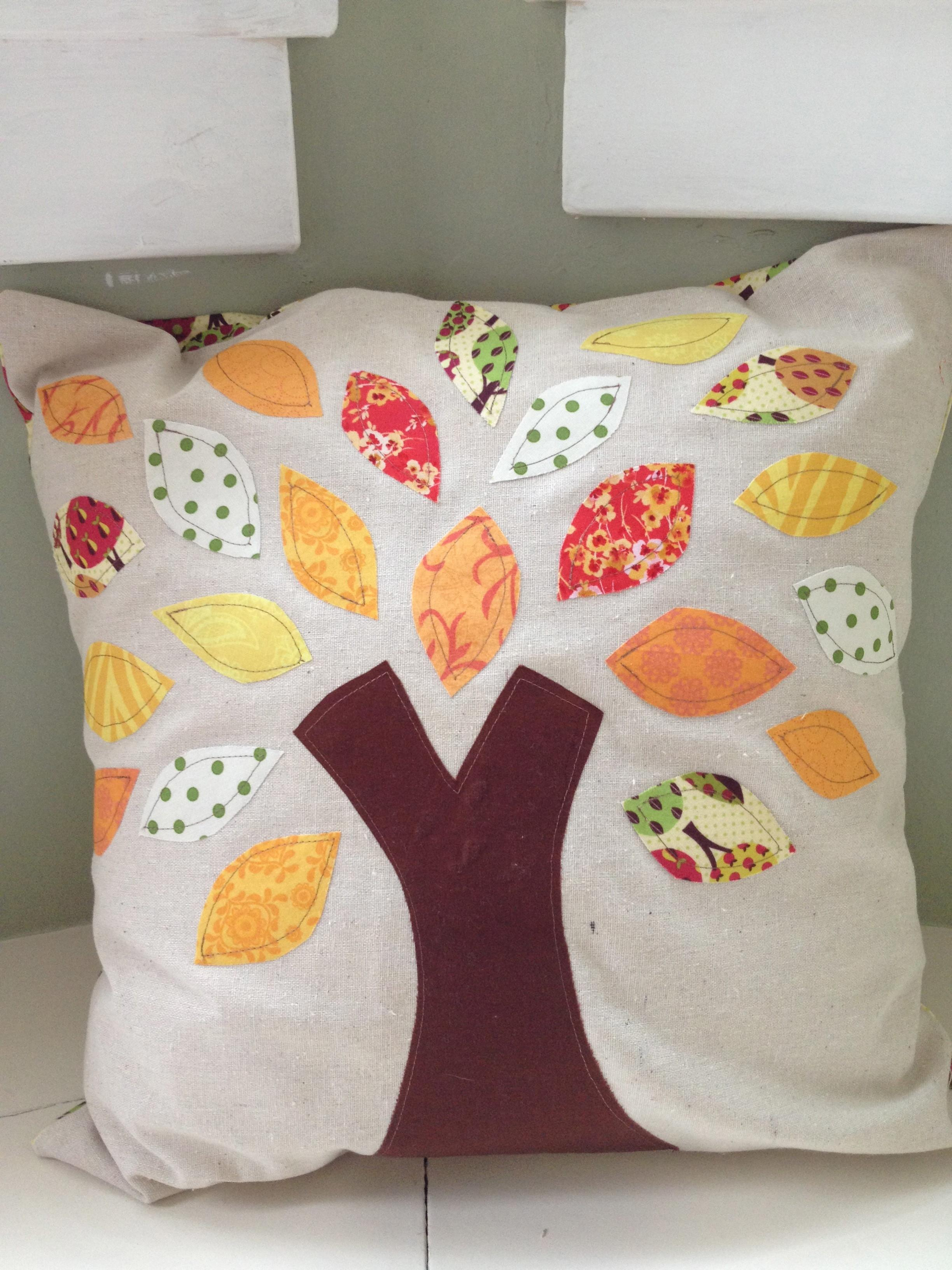 New Applique Fall Pillows Hoping God