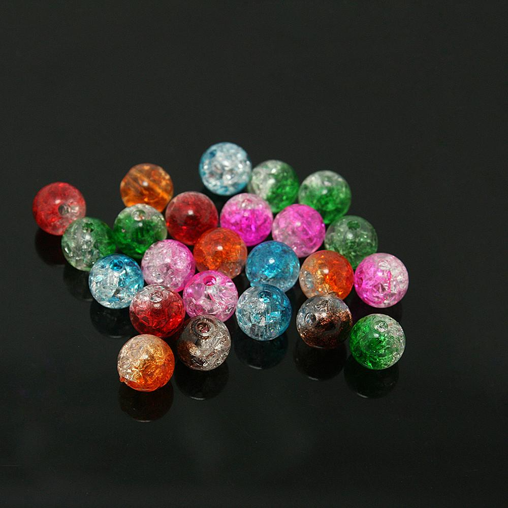 New Arrival Approx 8mm 100pcs Lot Mixed Color Acrylic