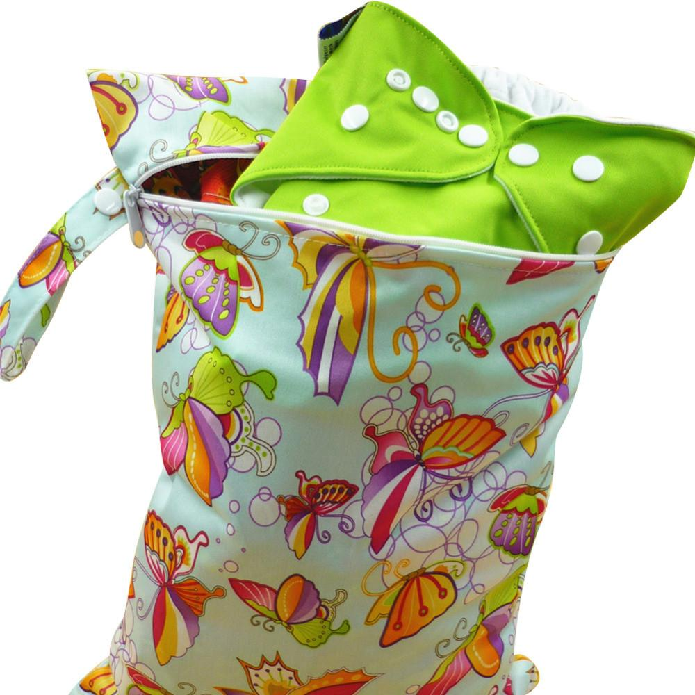 New Baby Wetbag Washable Reusable Cloth Diaper Nappies