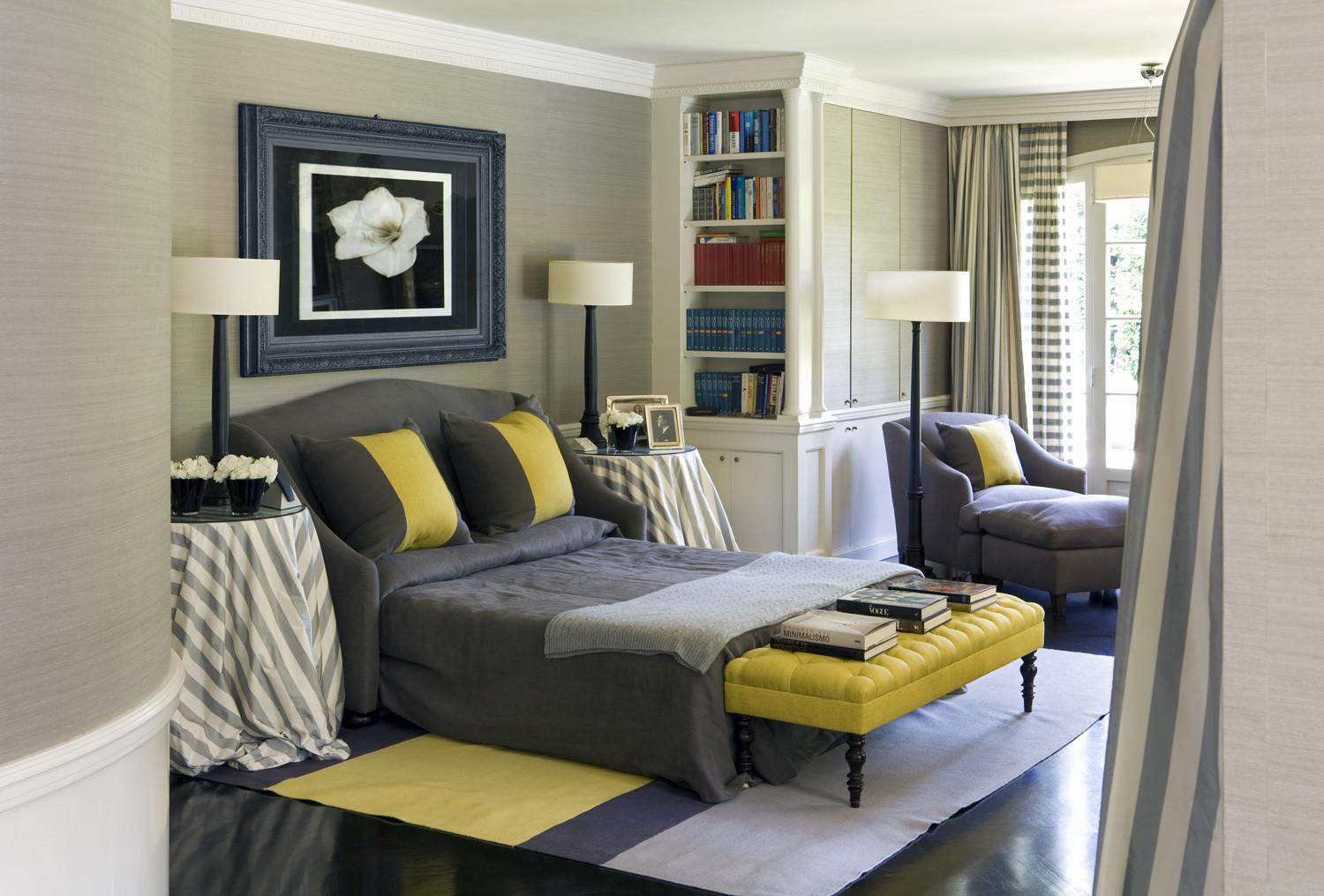 New Black Gray Yellow Bedroom Home Design