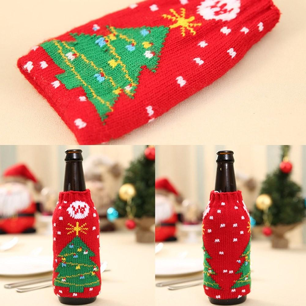 New Christmas Items Knitted Wine Bottles Set