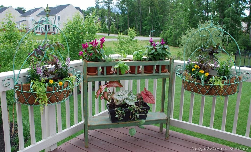 New Deck Planters Plants Uniquely Yours Mine