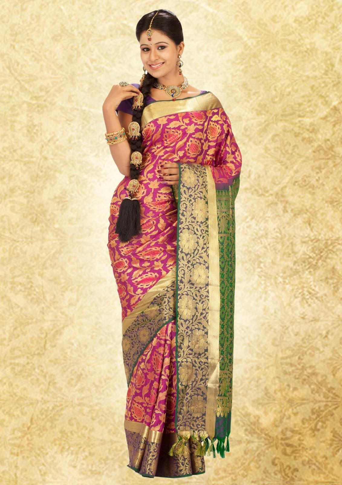 New Designer Wear Sarees 2015 Collection Outfit
