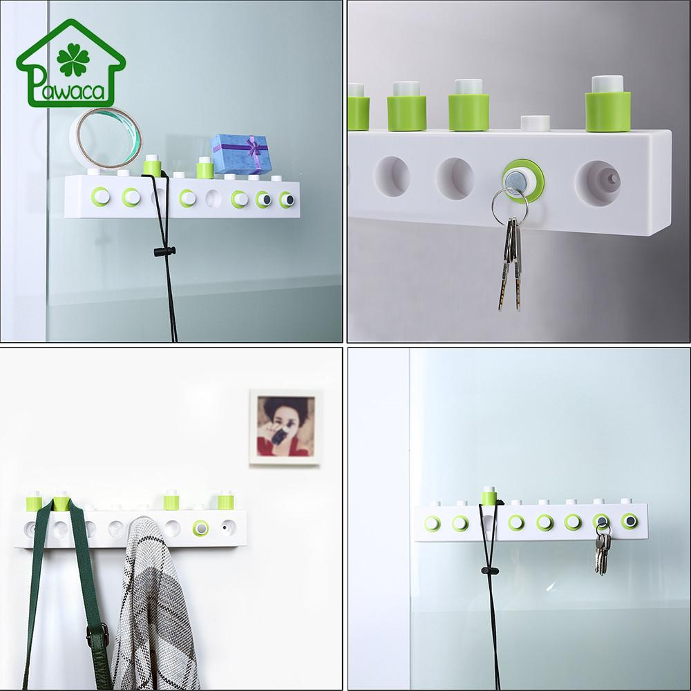 New Diy Assembling Building Blocks Wall Hooks Bathroom