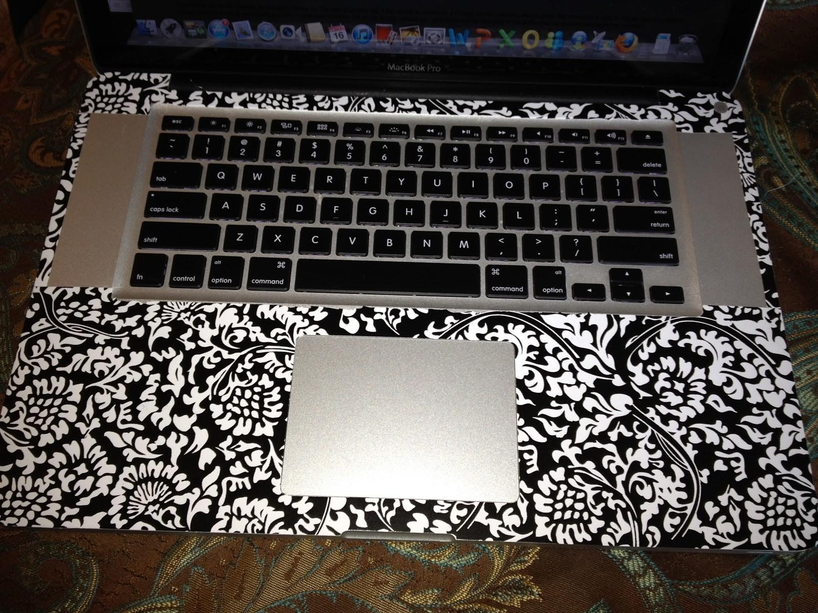 New Diy Contact Paper Macbook Pro Skin Damask Print